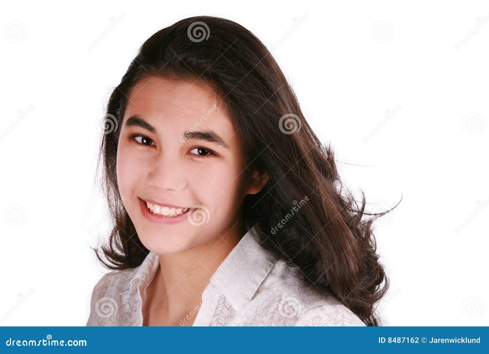 Beau sourire de l adolescence de fille