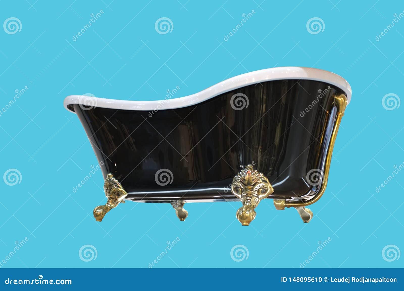 Beau style classique noir et blanc avec la baignoire d or de pied de griffe