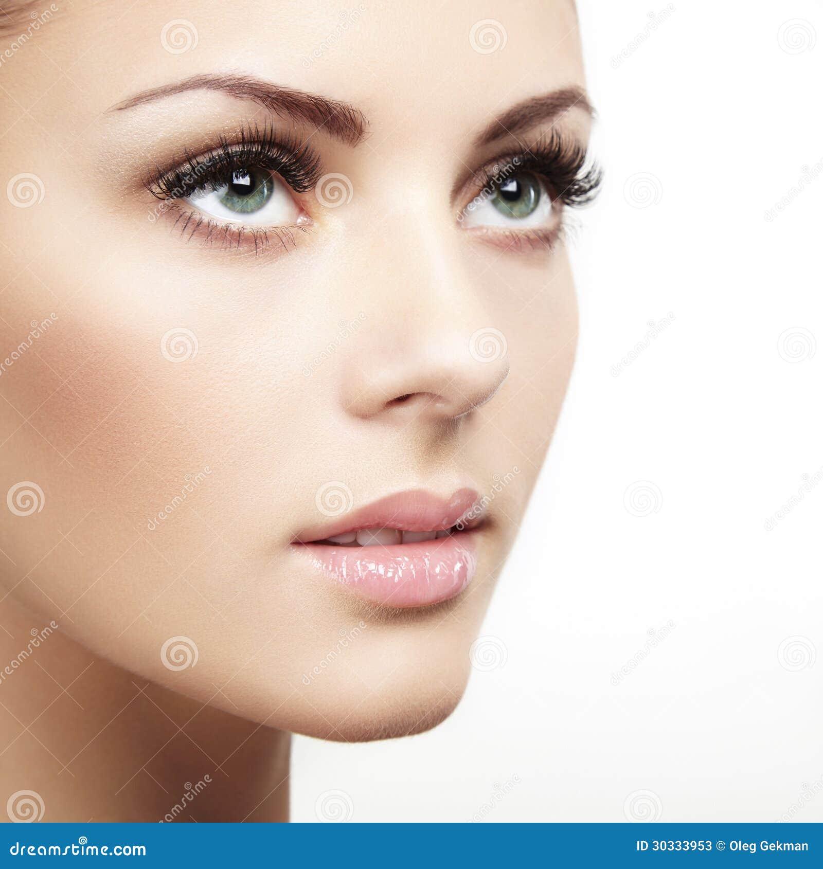Beau visage de femme maquillage parfait photos stock image 30333953 - Maquillage araignee visage ...