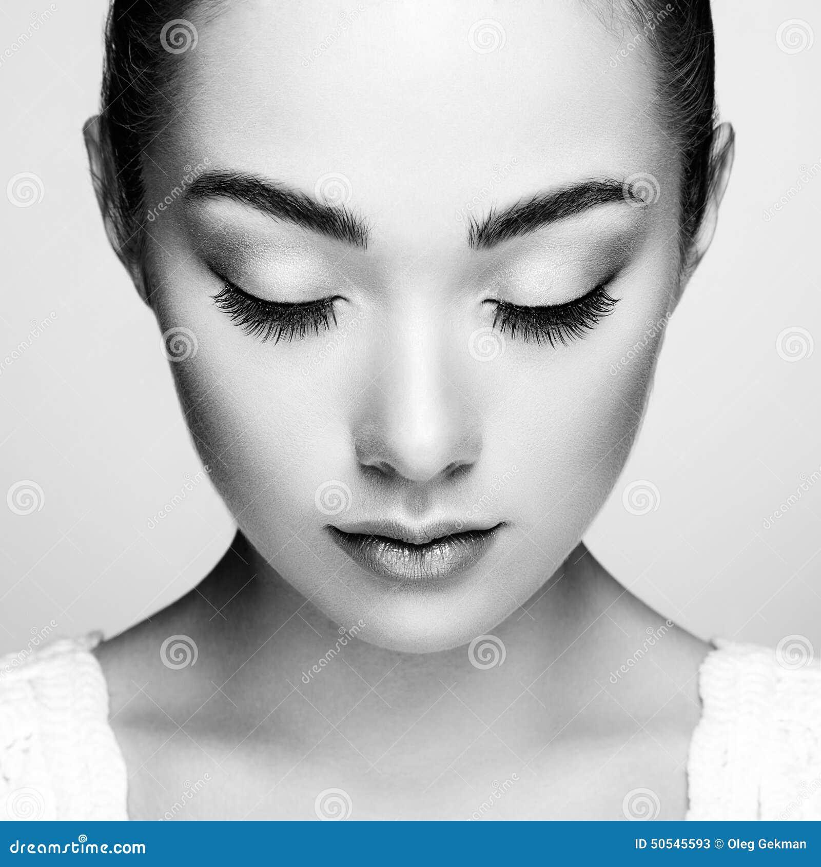 Beau visage de femme Maquillage parfait