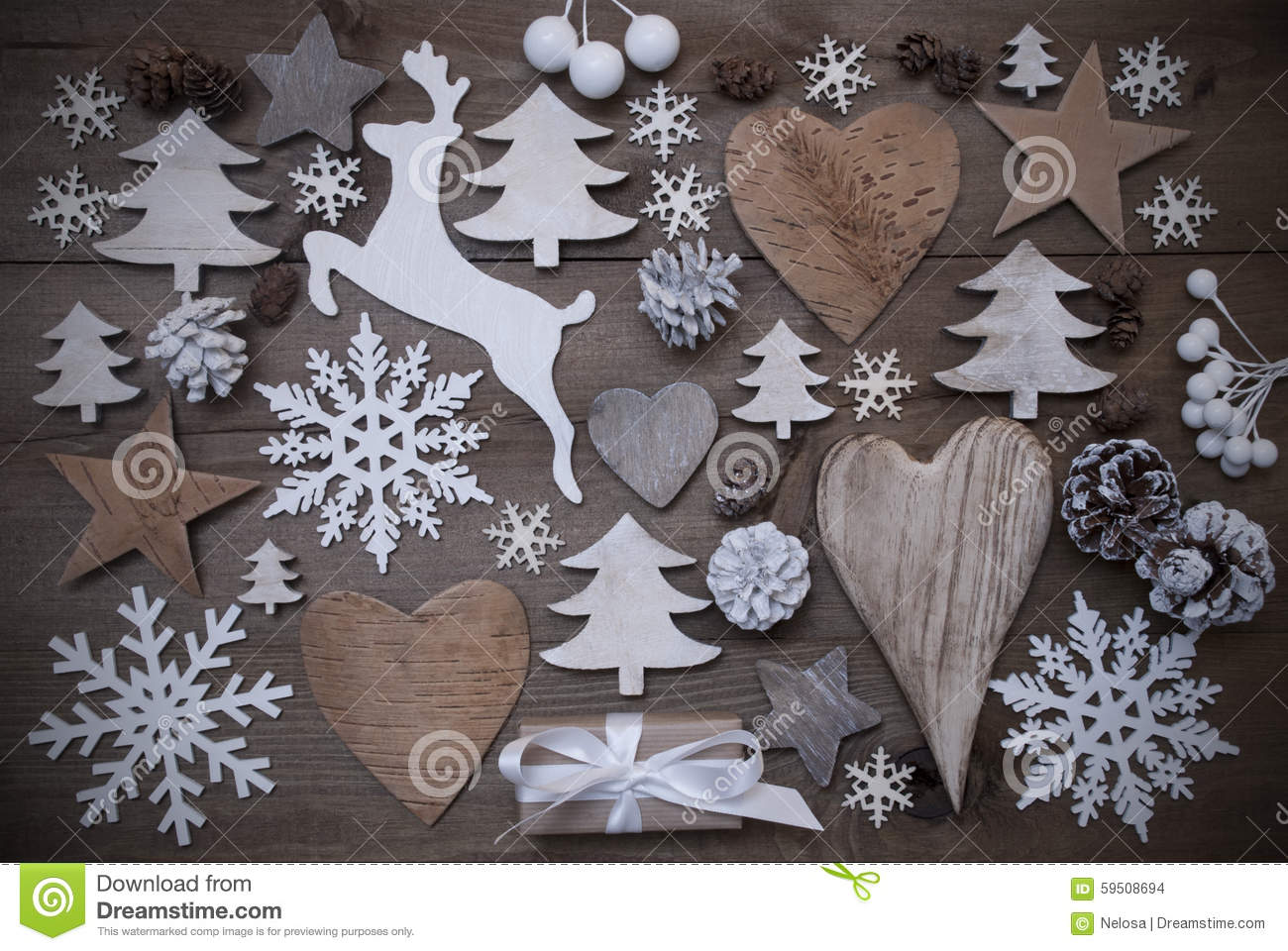 Beaucoup d coration de no l coeur flocons de neige toile pr sent renne photo stock image - Deco d voorgerecht ...