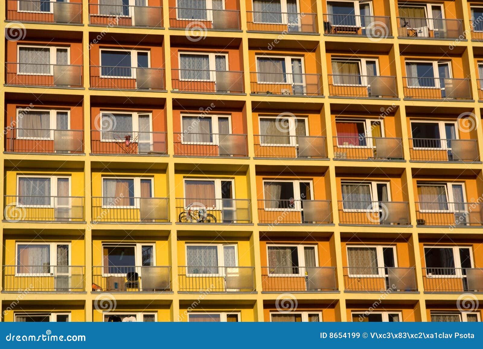 Beaucoup d appartements ensemble