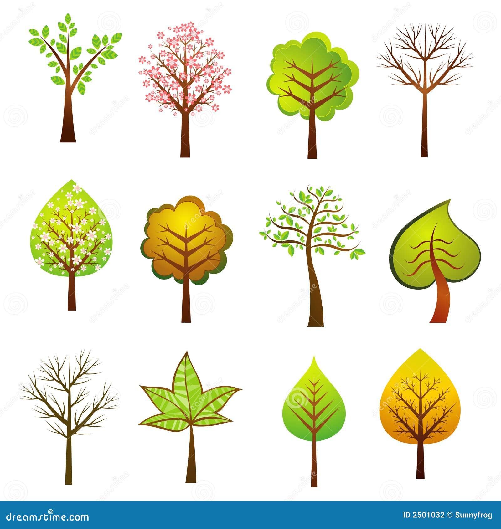Beaucoup d arbres, vecteur