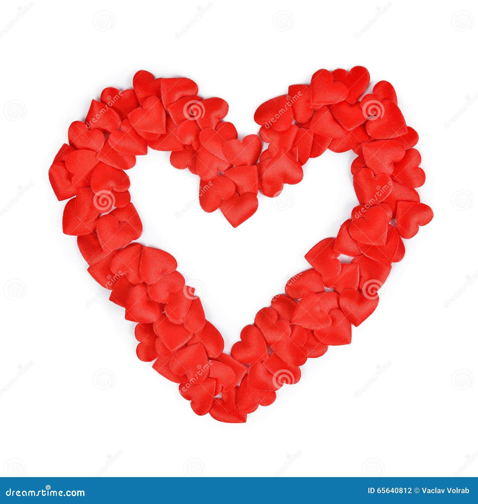 Beaucoup de coeurs sous forme de coeur