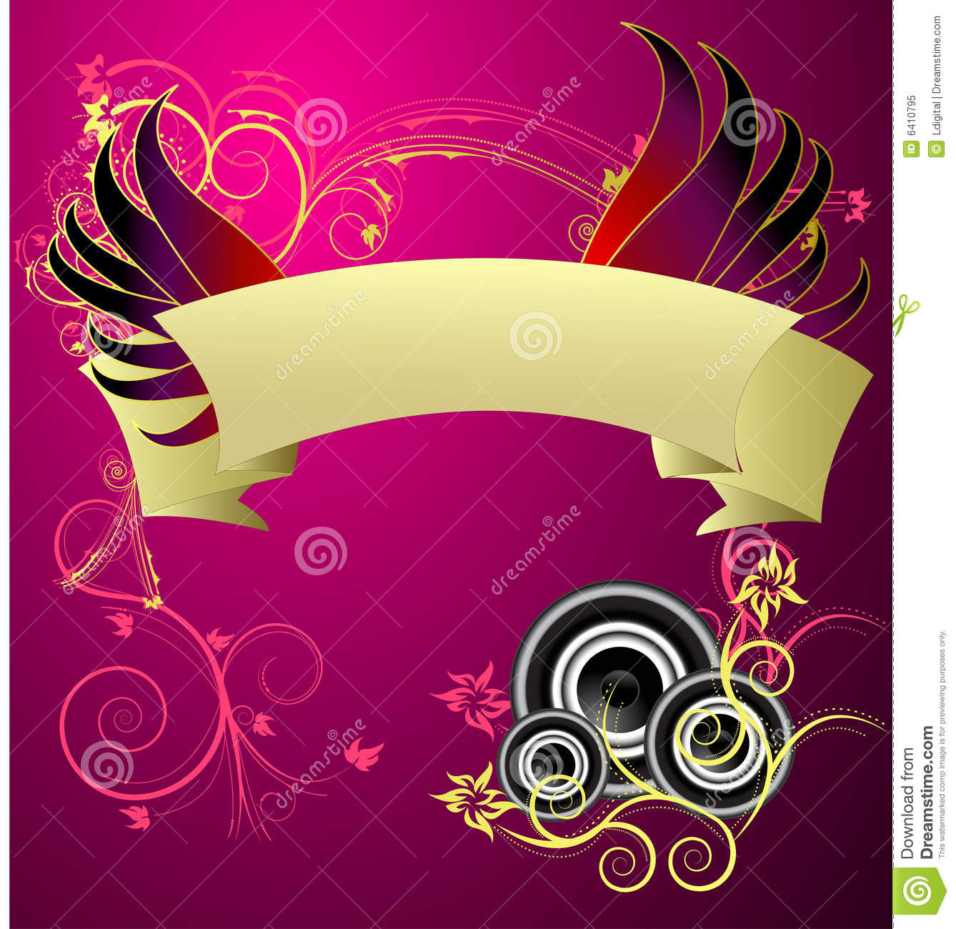 a beauitful musical banner vector design royalty free stock photo