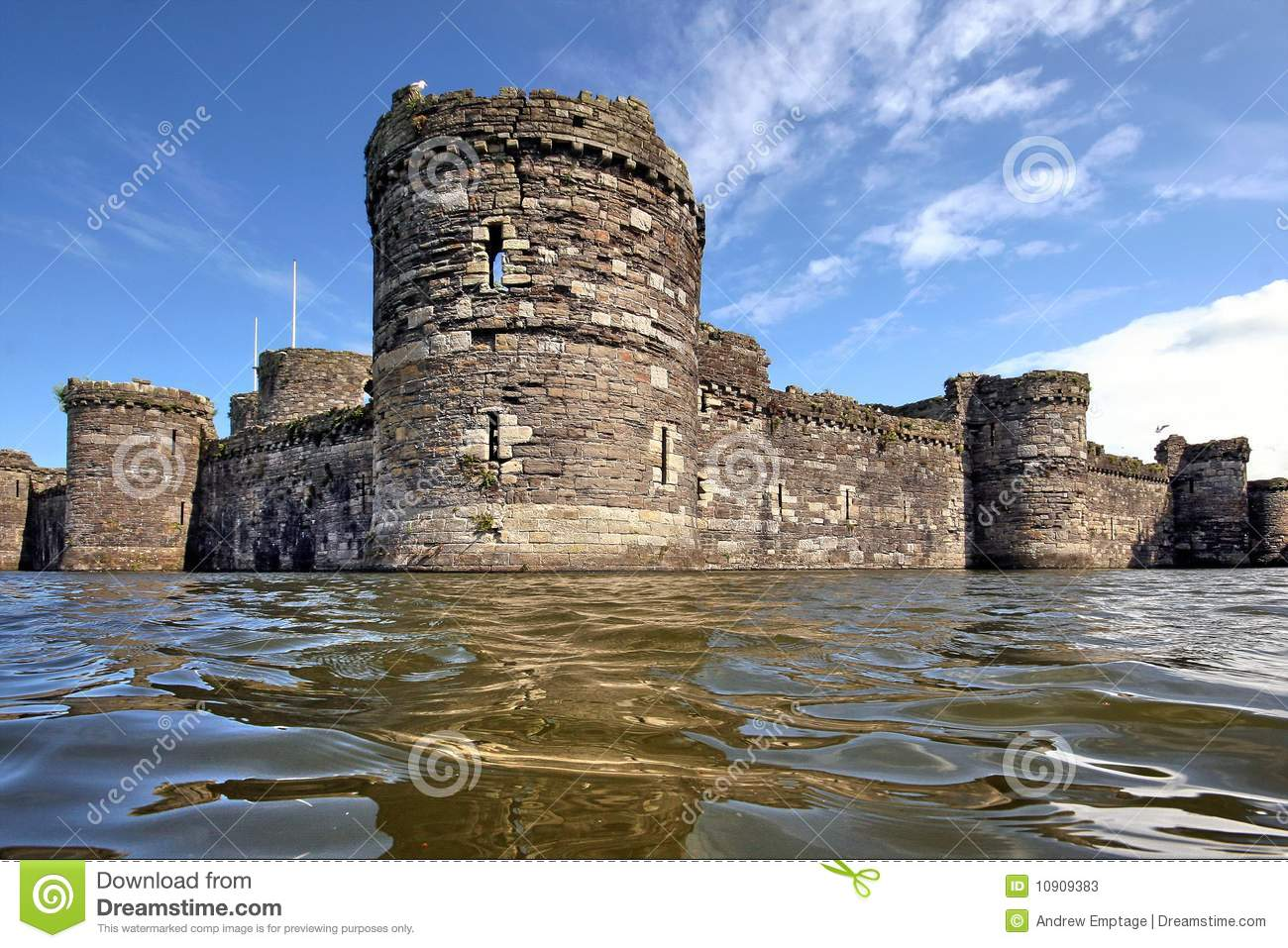 beaumaris castle  anglesey  north wales stock photos