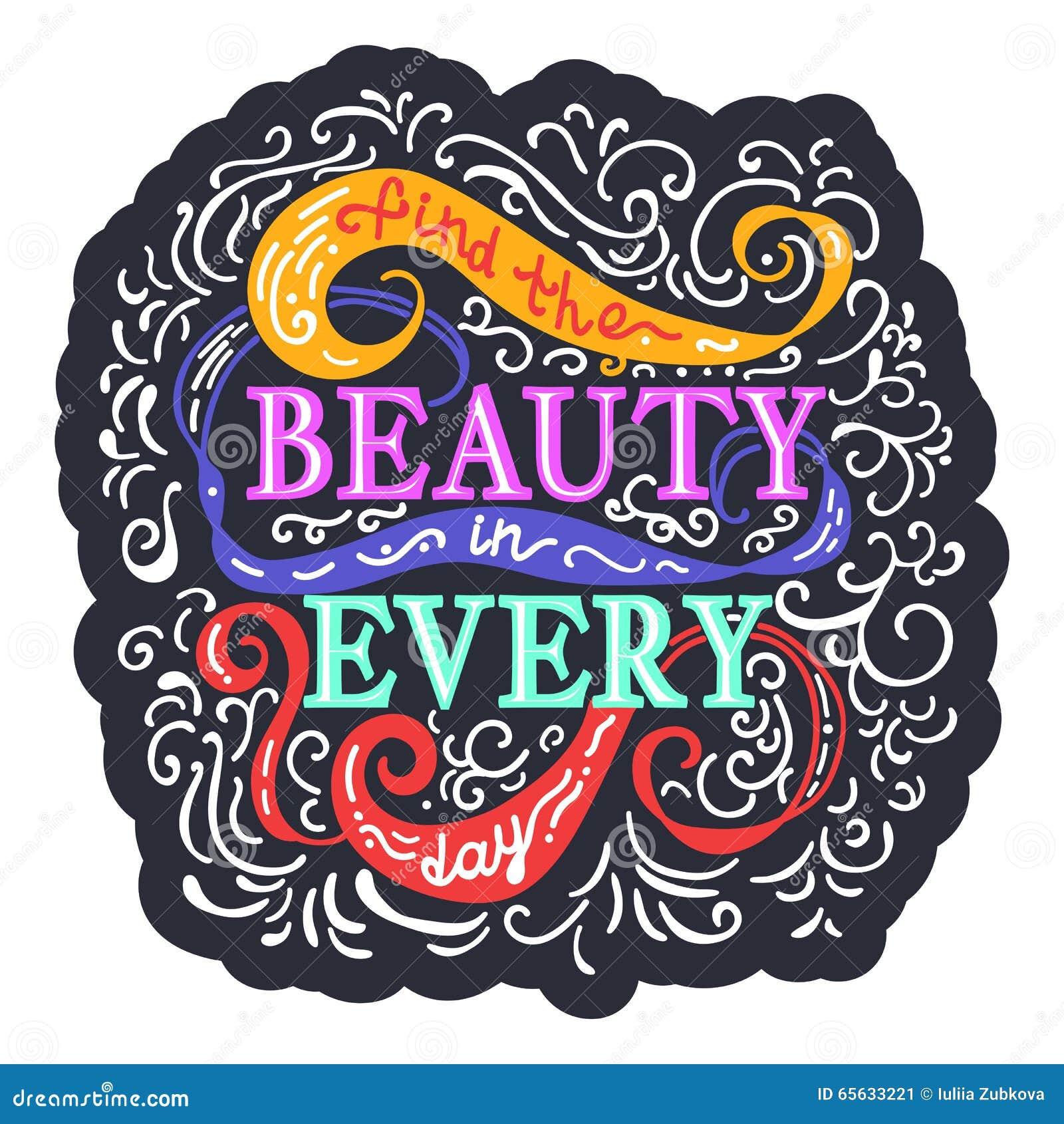 Beauté de découverte dans chaque jour Expression colorée sur le fond avec le swi