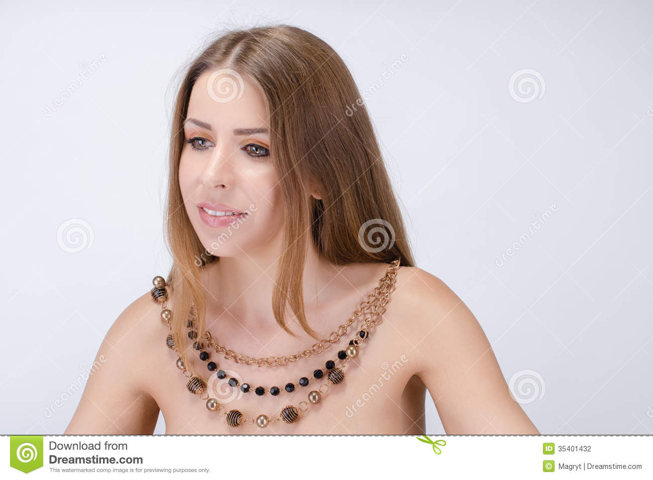 Necklace Beautiful Woman On 52