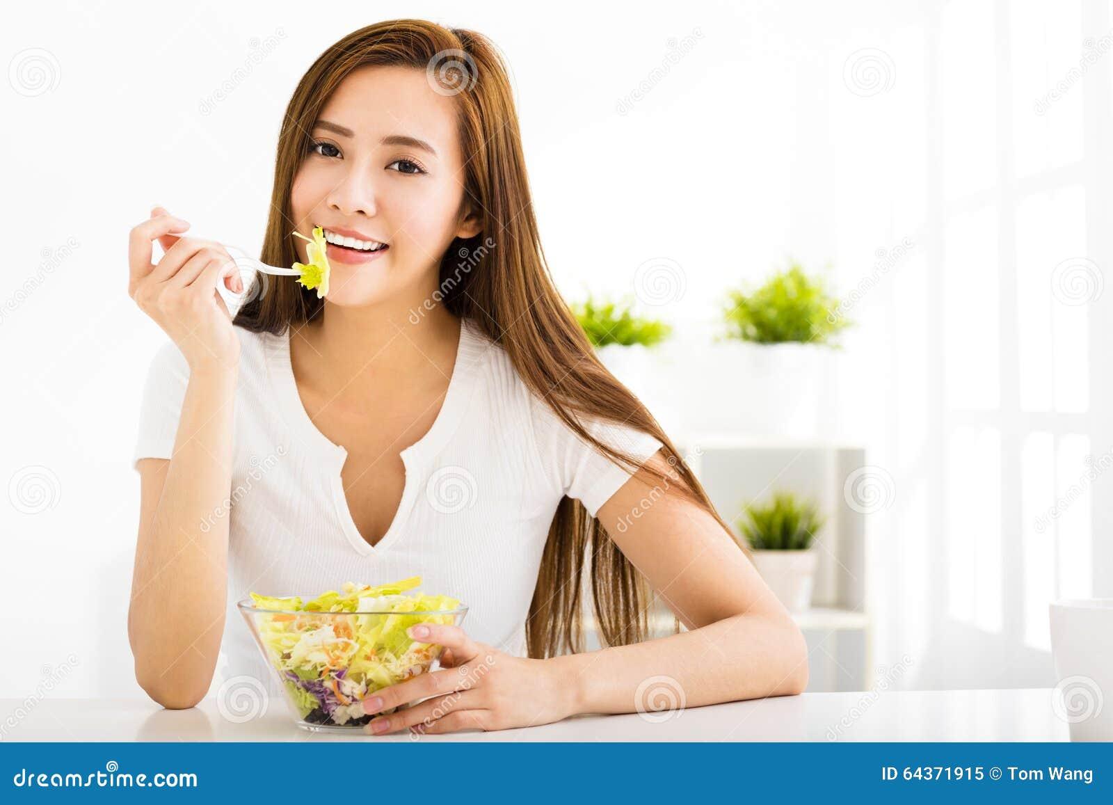 Asian Woman Eating 97