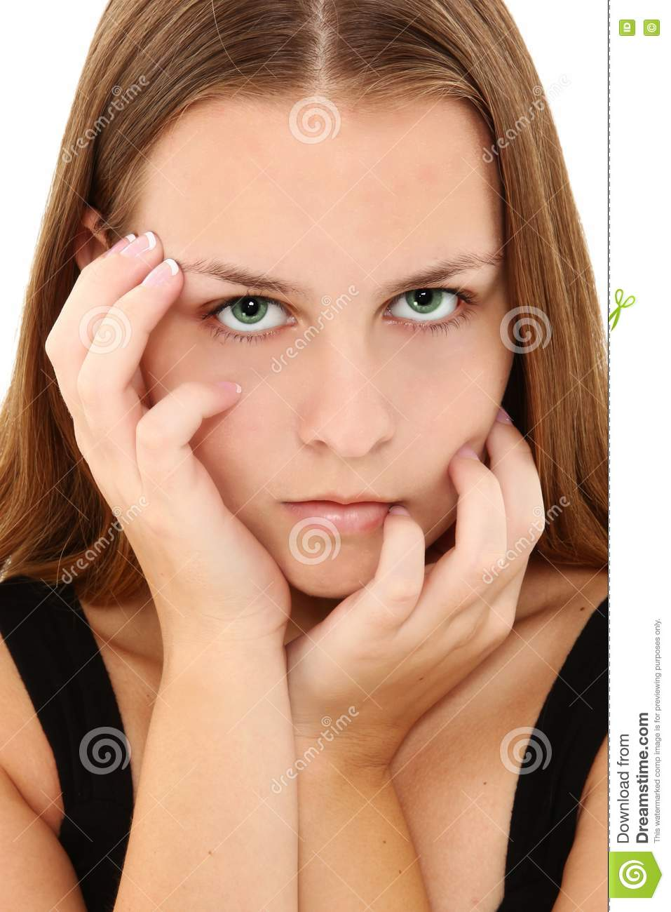Beautiful 16 Teen Girl Stock Image Image Of Fingers