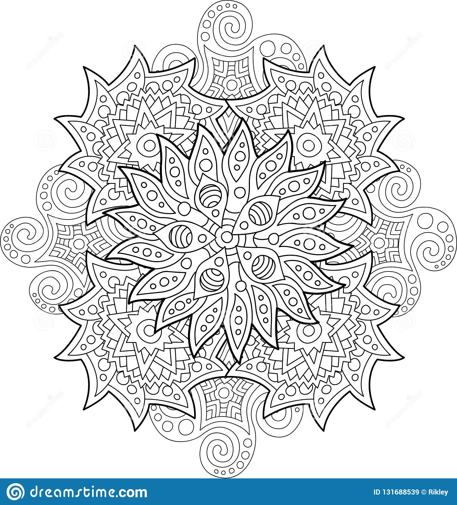 Abstract Coloring Book Art On White Background Stock Vector ...