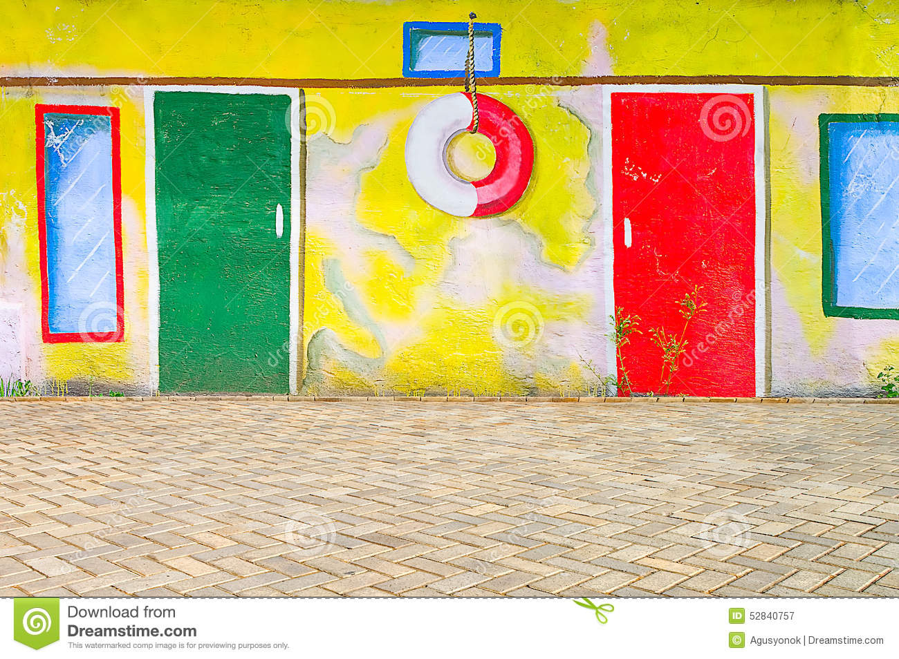 Beautiful Abstract Art Background Wall On The Street With Graffi ...