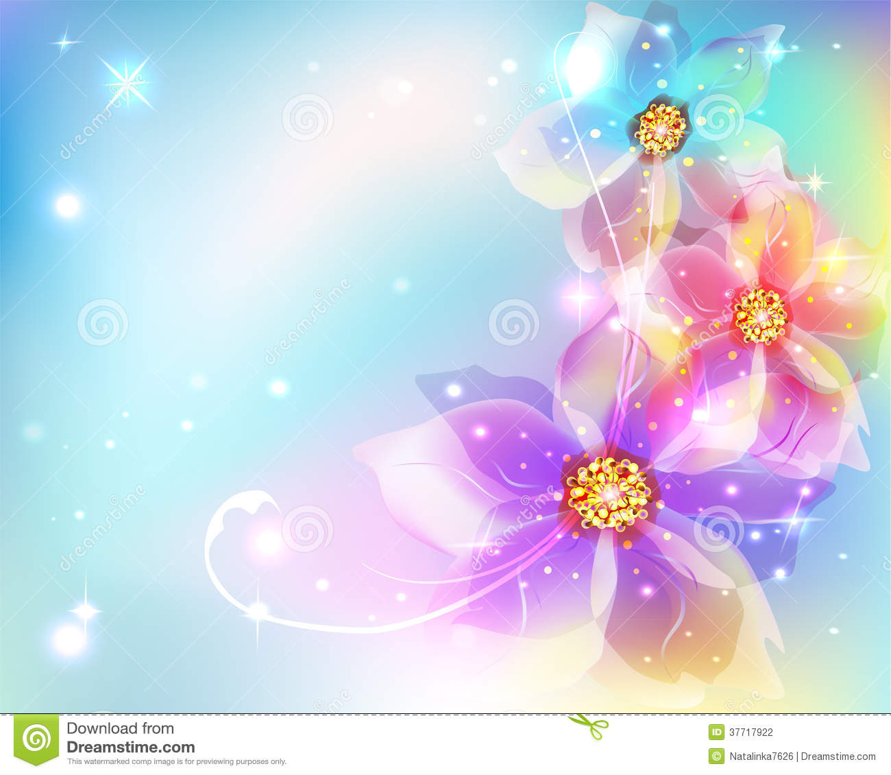 Beautiful Abstract Background With Flowers Stock Photography ...