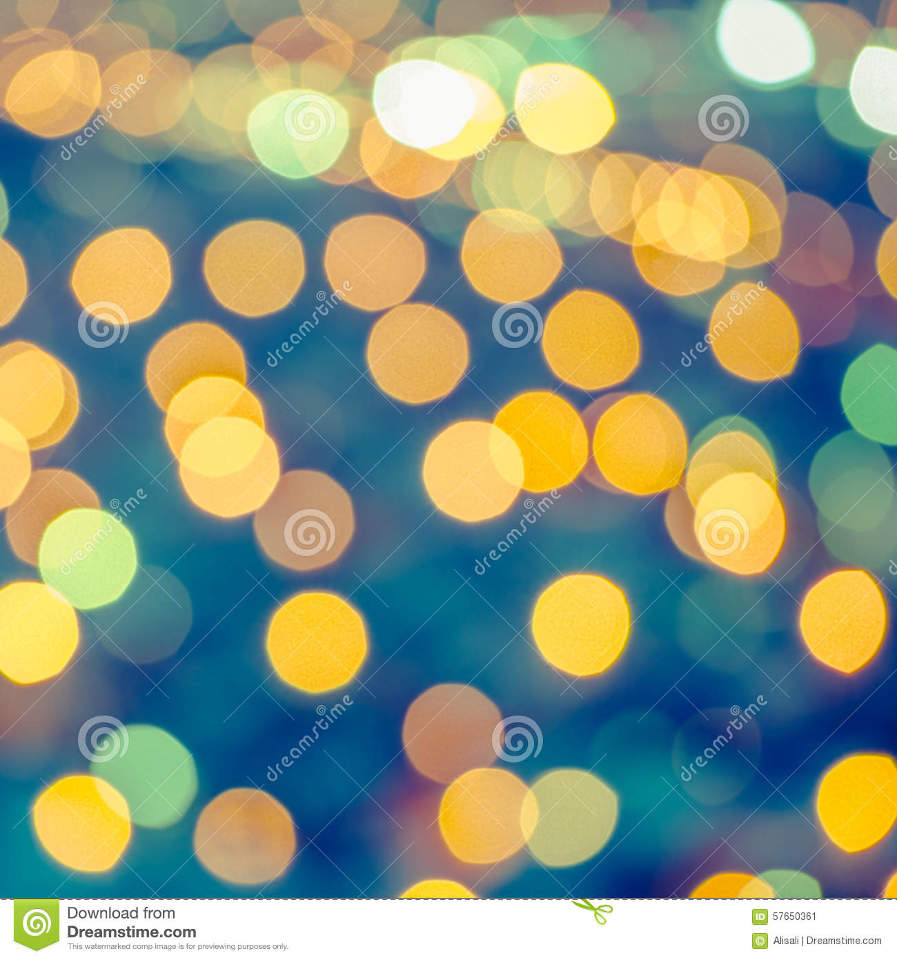 beautiful abstract blue circular bokeh background, city lights w