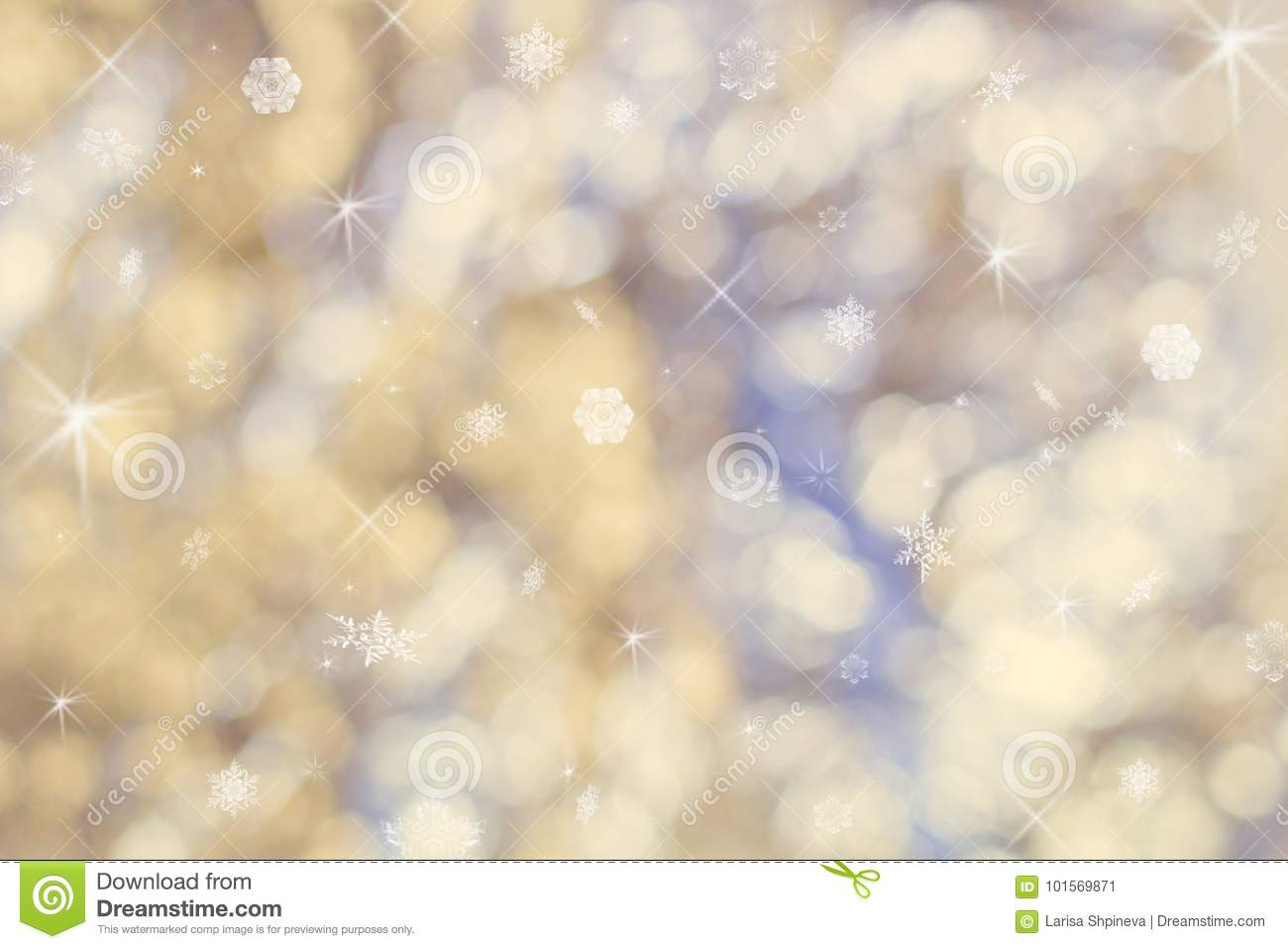 Beautiful abstract Christmas background of holiday lights