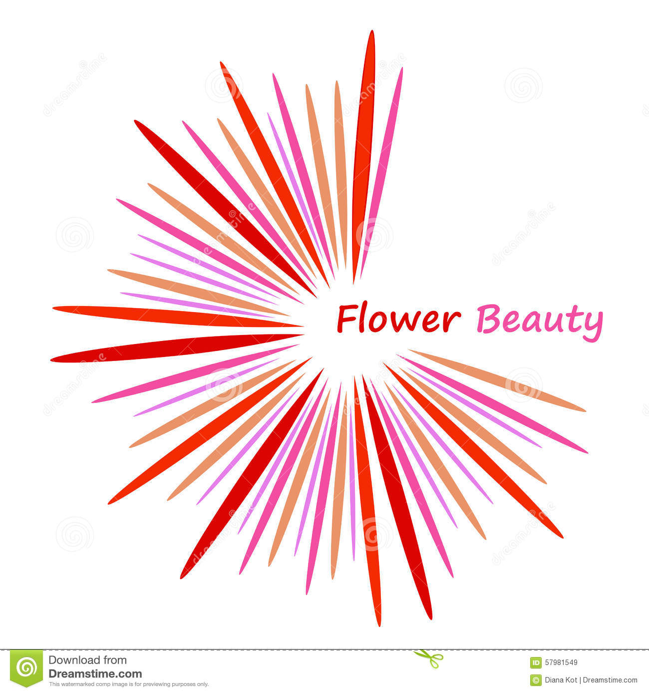 Beautiful abstract flower icon stock vector image 57981549 beautiful abstract flower icon stock vector dhlflorist Images
