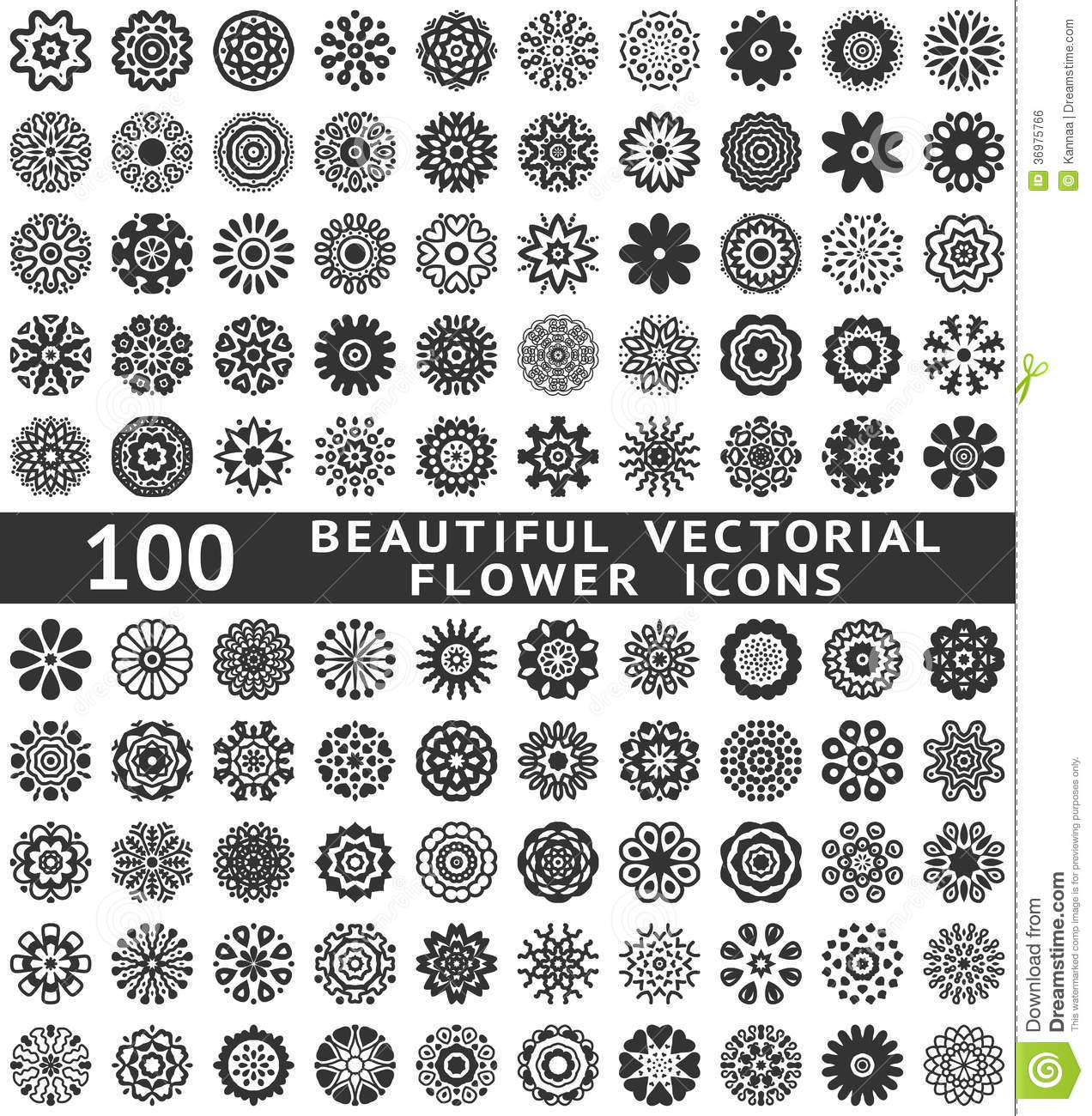 Beautiful Abstract Flower Icons Vector Royalty Free Stock Image Image 369