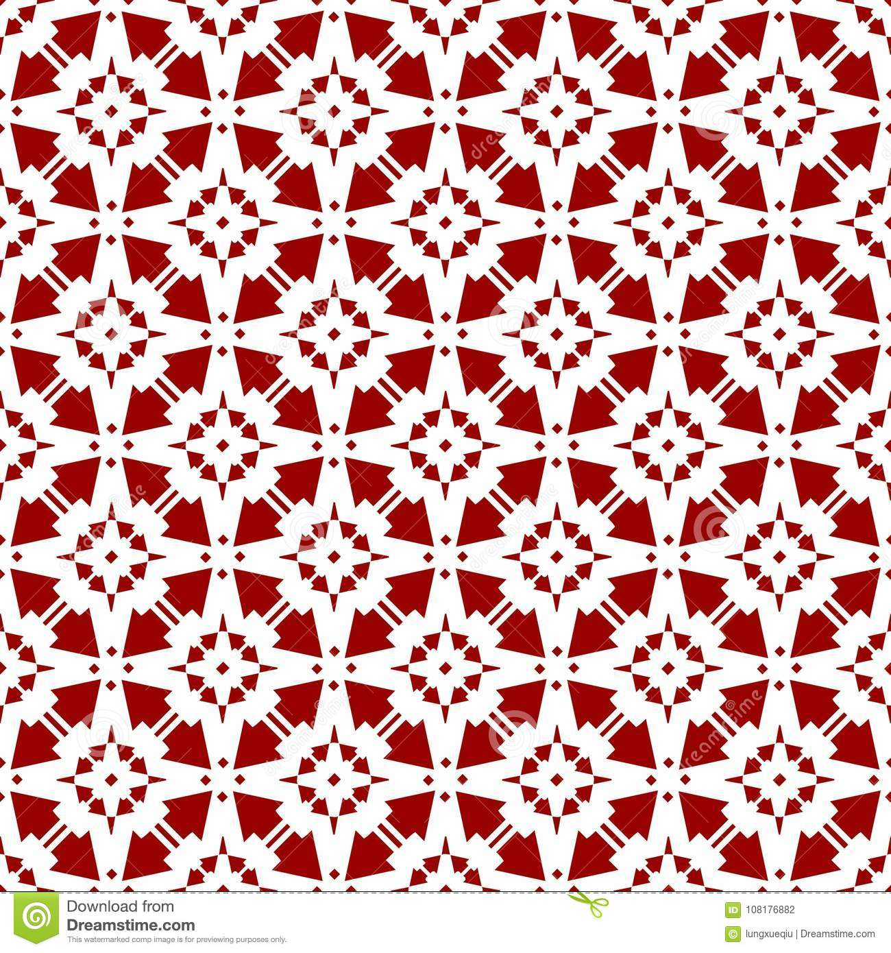Beautiful Abstract Ornamental Oriental Red Royal Vintage Arabic
