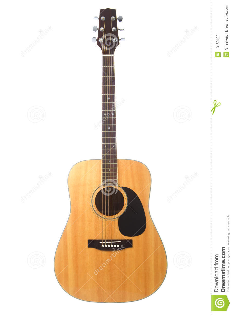 beautiful acoustic guitar isolated on white stock image image 13153139. Black Bedroom Furniture Sets. Home Design Ideas