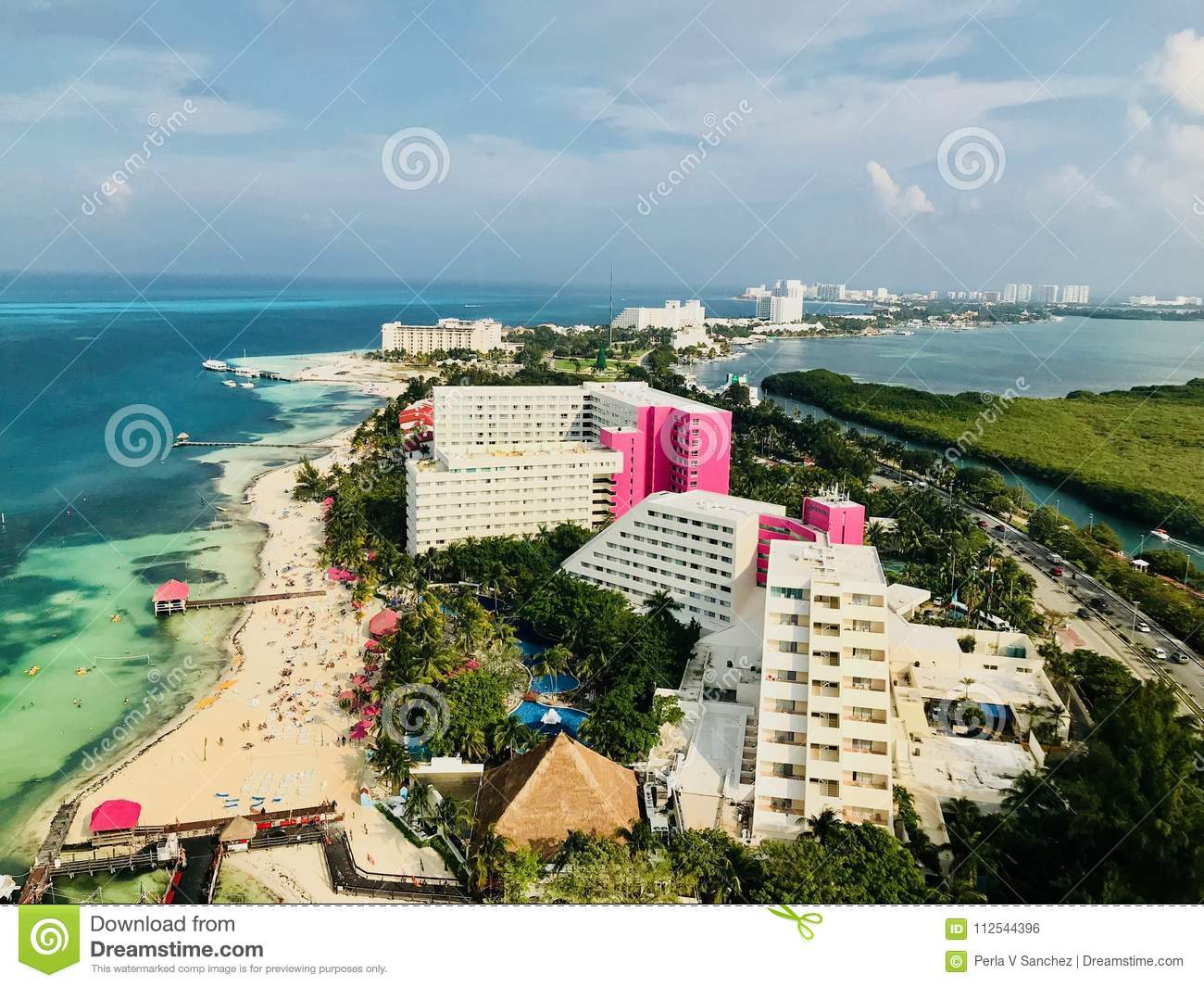 Cancun Quintana Roo Mexico Landscape From The Xcaret Tower