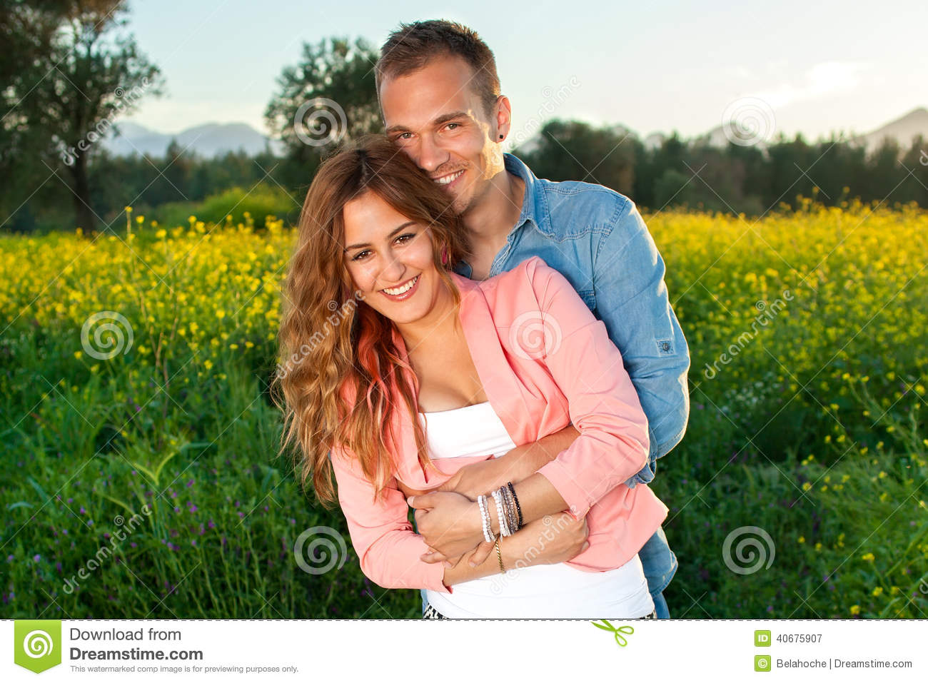 Beautiful affectionate young couple in love.