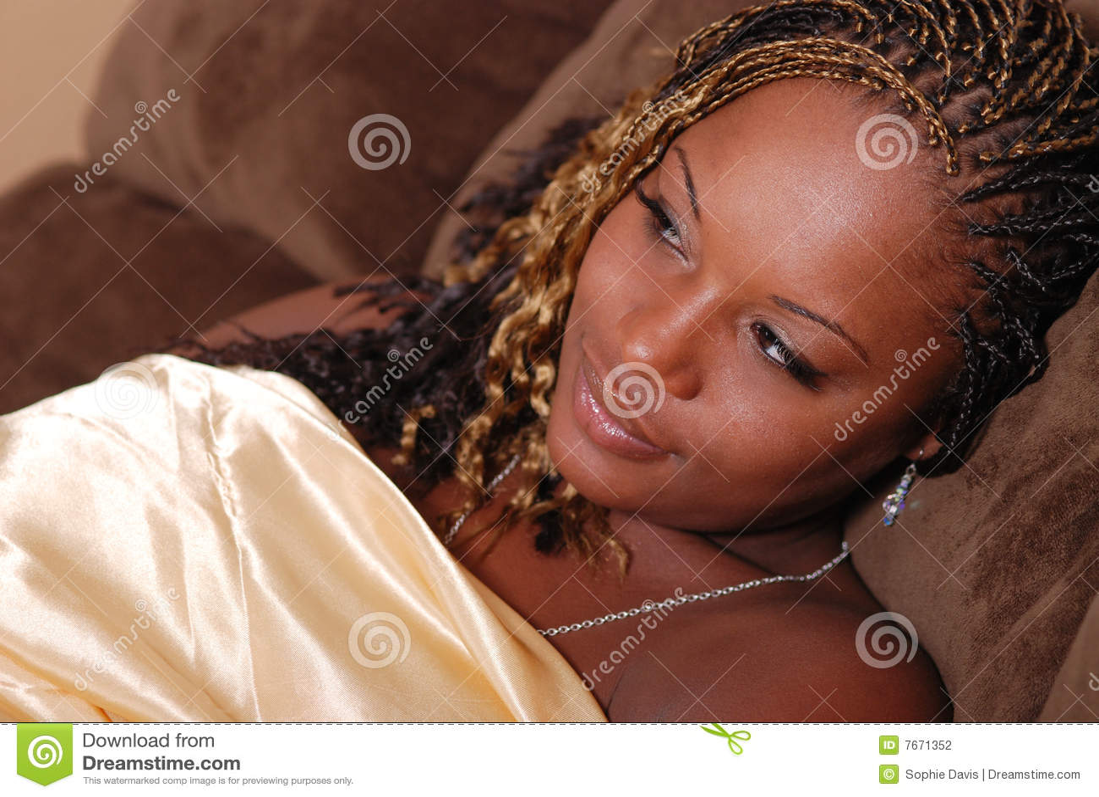 Beautiful Afrian American woman.