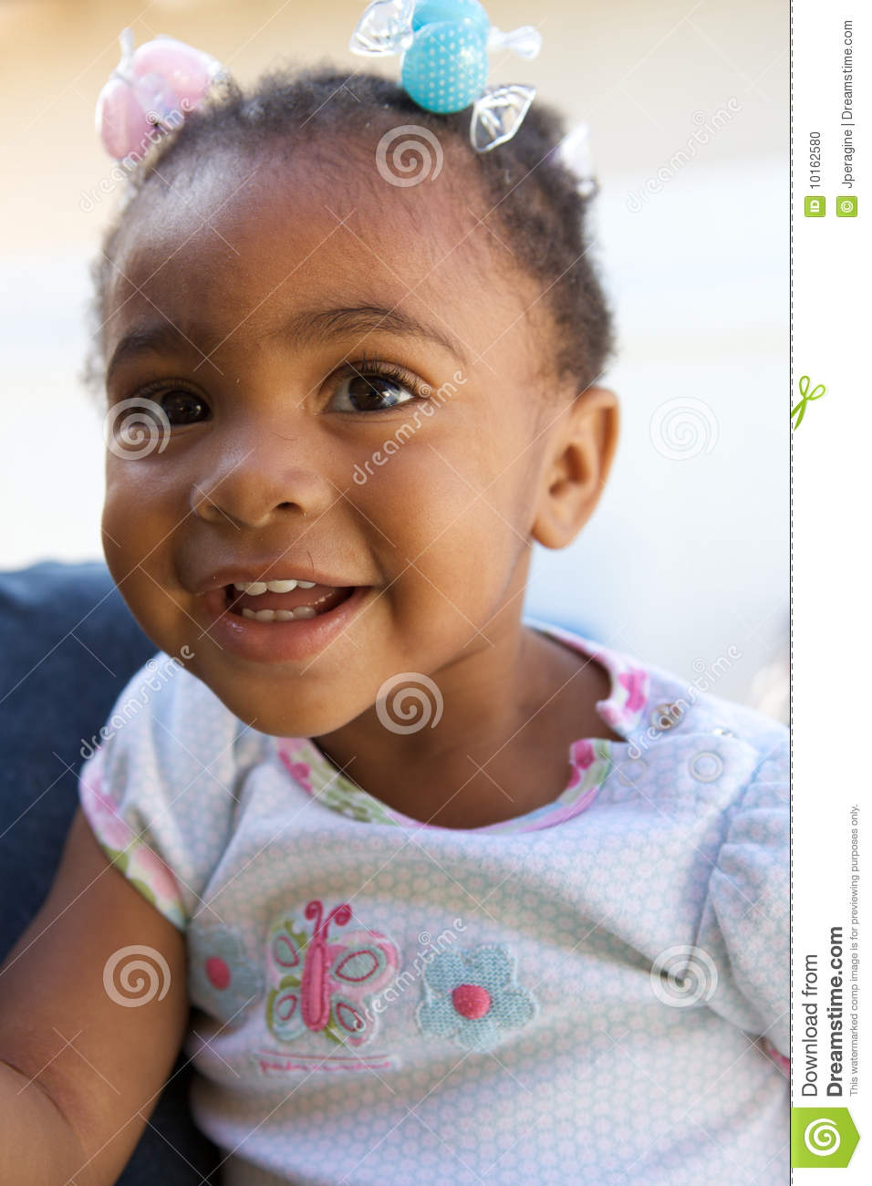 A Beautiful African American Baby Smiling Stock Photo Image 10162580