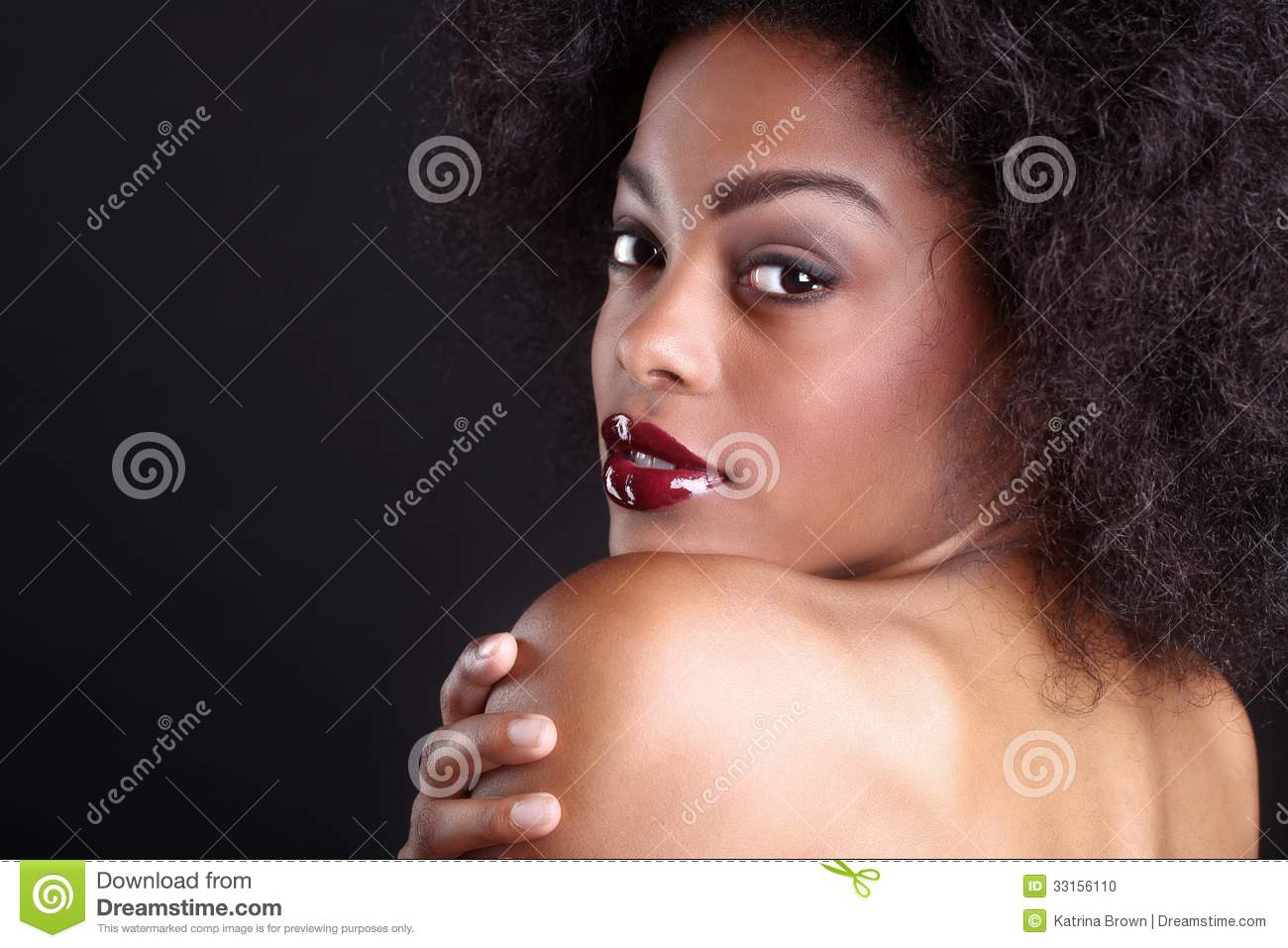 Beautiful african american black woman stock photo image for Wonderful black