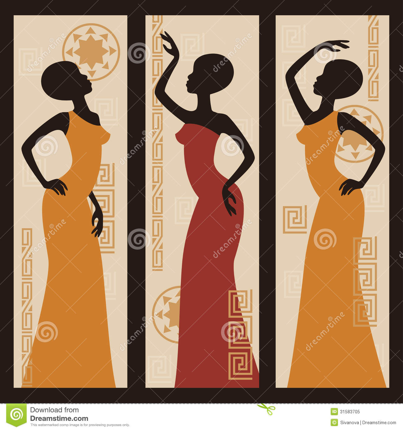 African Women Stock Vector « Search Results « Black Models Picture