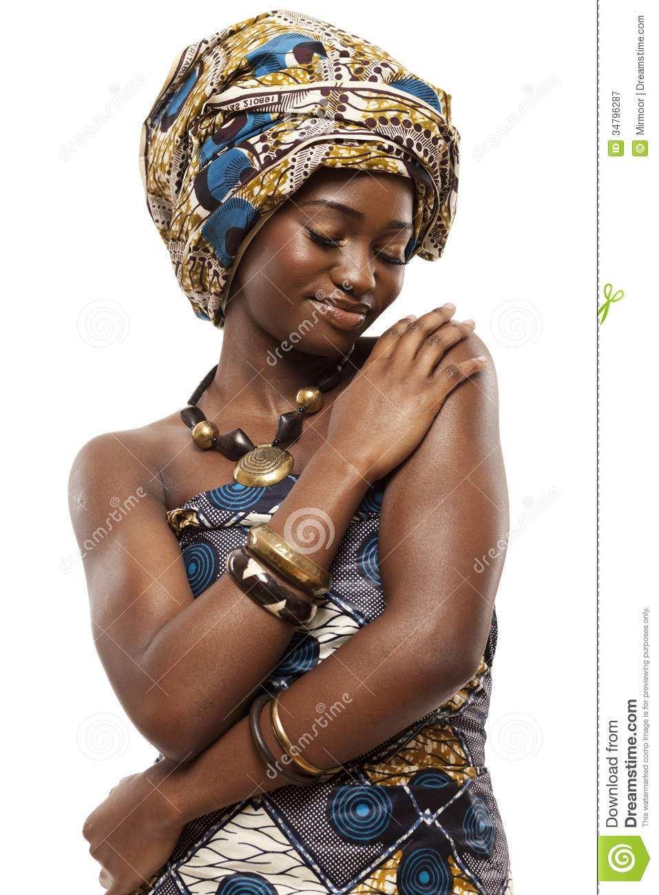 Beautiful African Fashion Model In Traditional Dress
