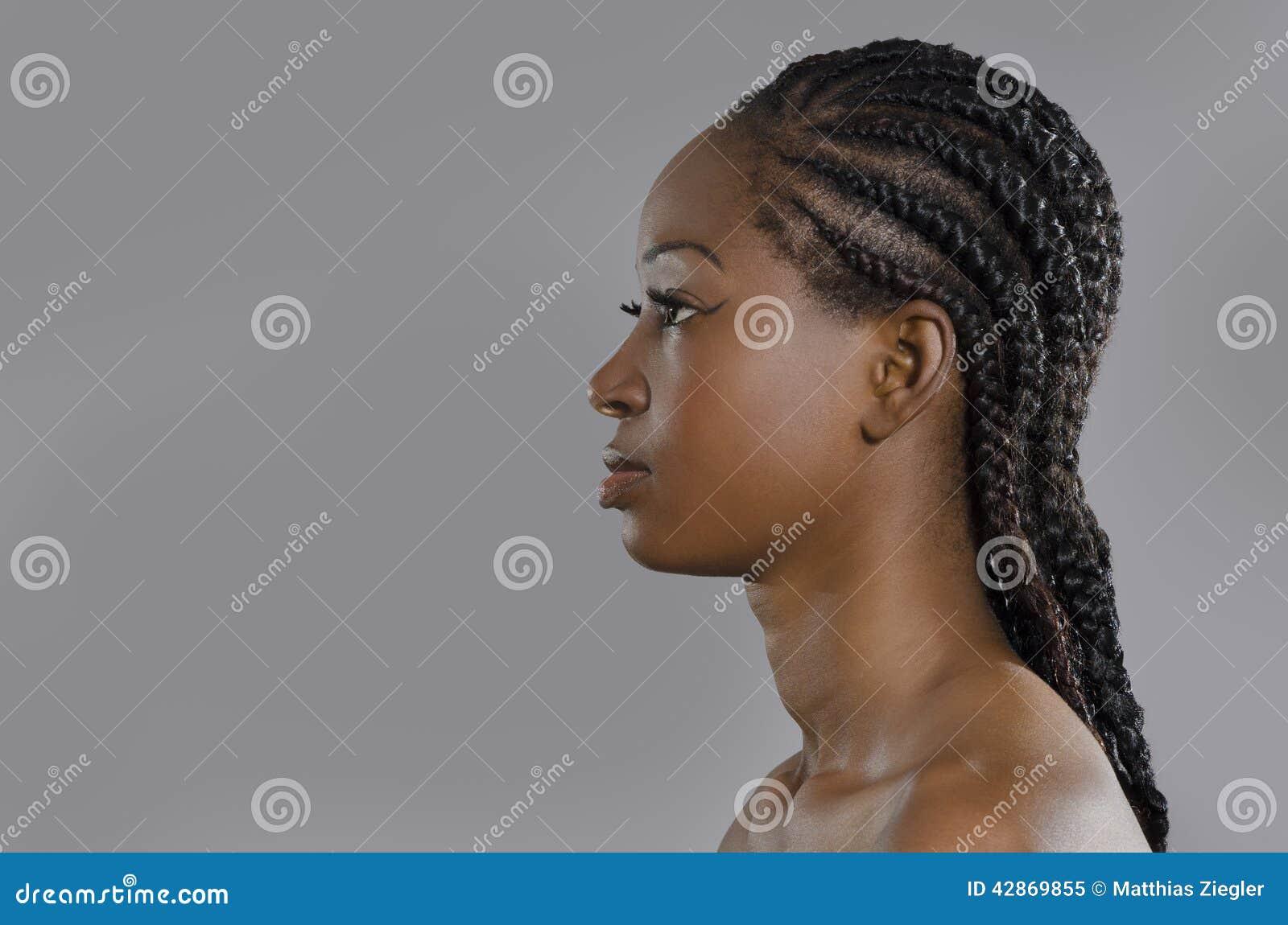 Beautiful African Woman Profile Stock Photo Image 42869855