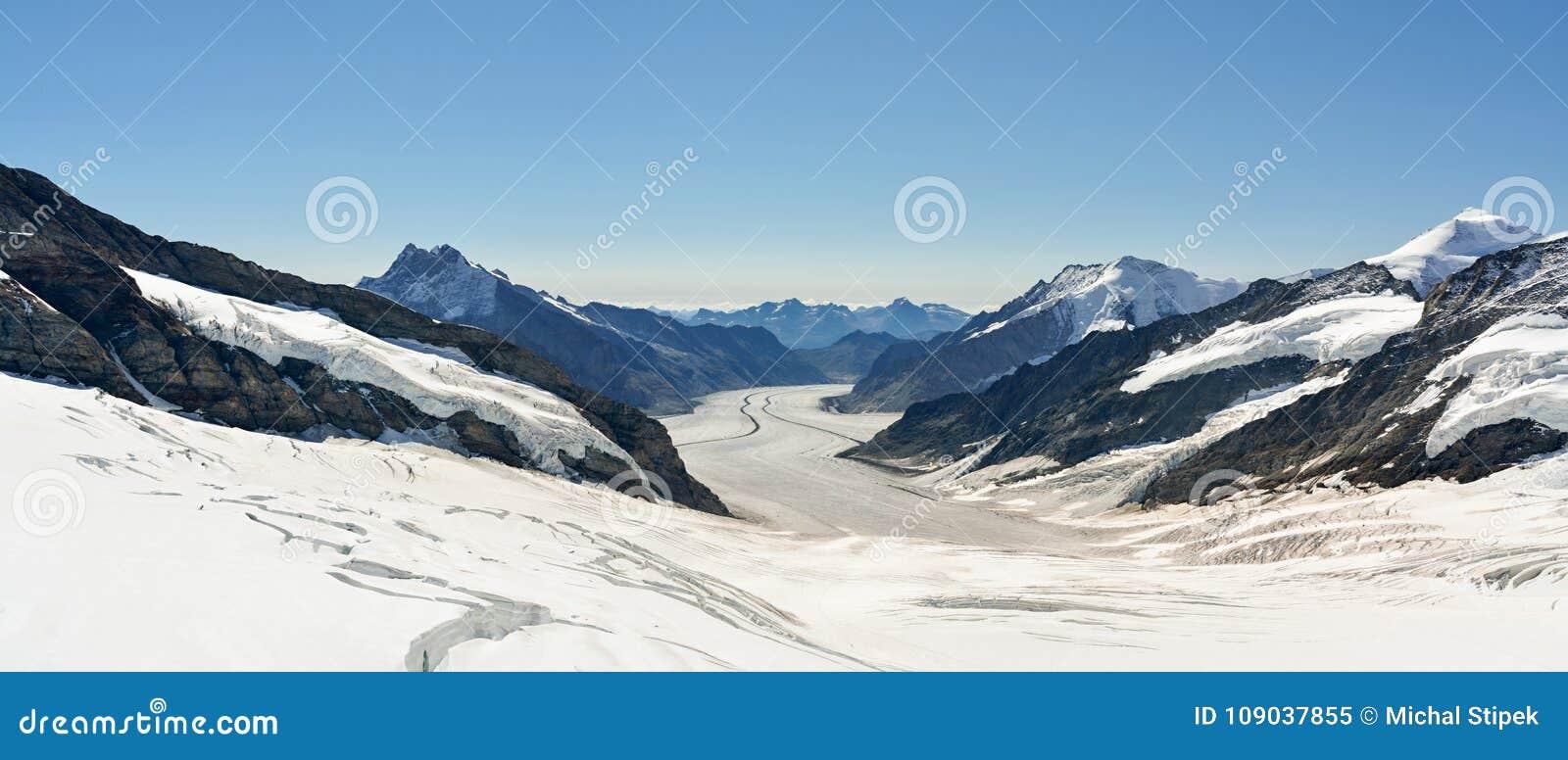 Beautiful Aletsch glacier in Switzerland