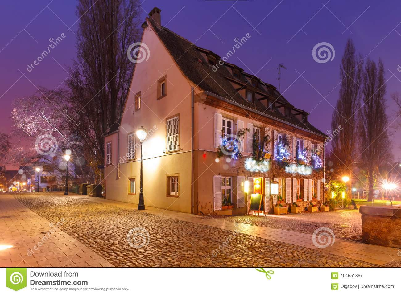 Strasbourg France Christmas Time.Christmas House In Strasbourg Alsace France Stock Image