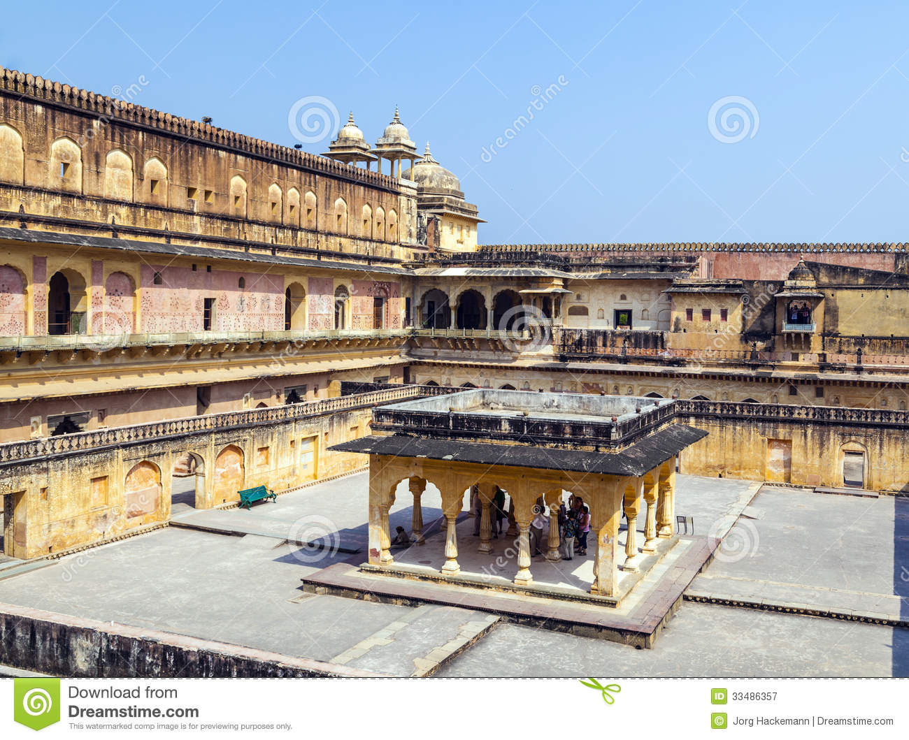 beautiful amber fort near jaipur city in india royalty