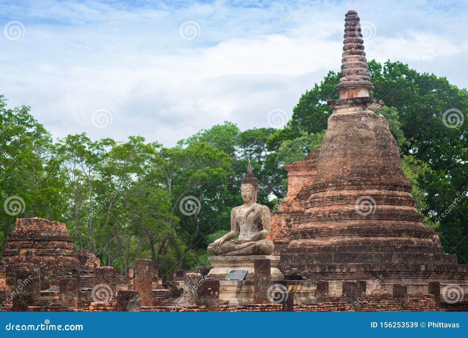 Beautiful Ancient Buddha At Sukhothai Historical Park Sukhothai Thailand Stock Image Image Of Buddhism Historical 156253539