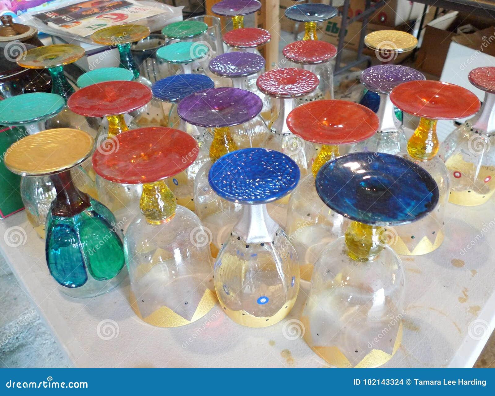 Antique Glassware Colorful Glassware Wine Glasses Decorative Colors