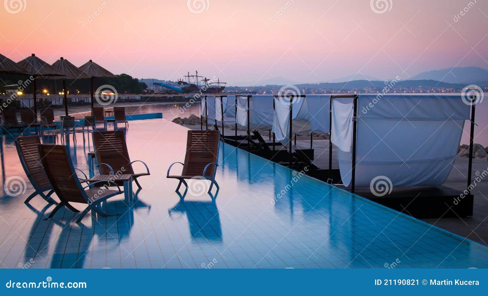 Beautiful aqua beach bar on a croatian beach