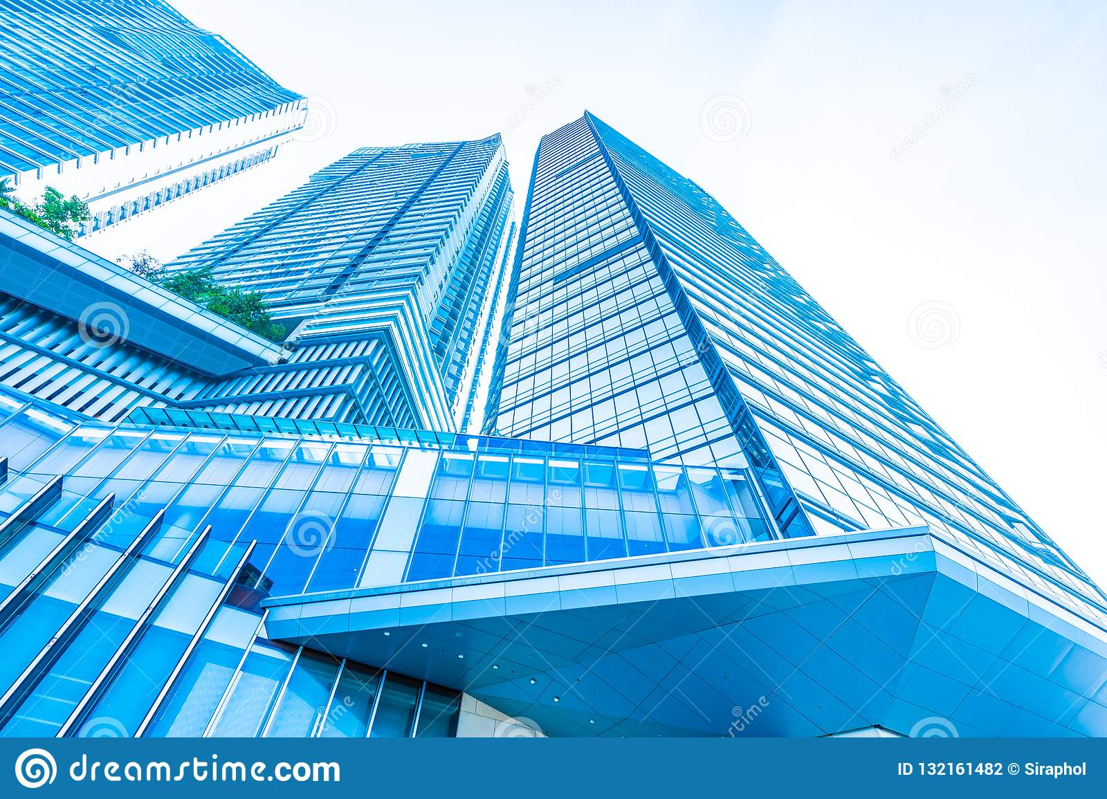 Beautiful Architecture Business Office Building Exterior Stock Photo