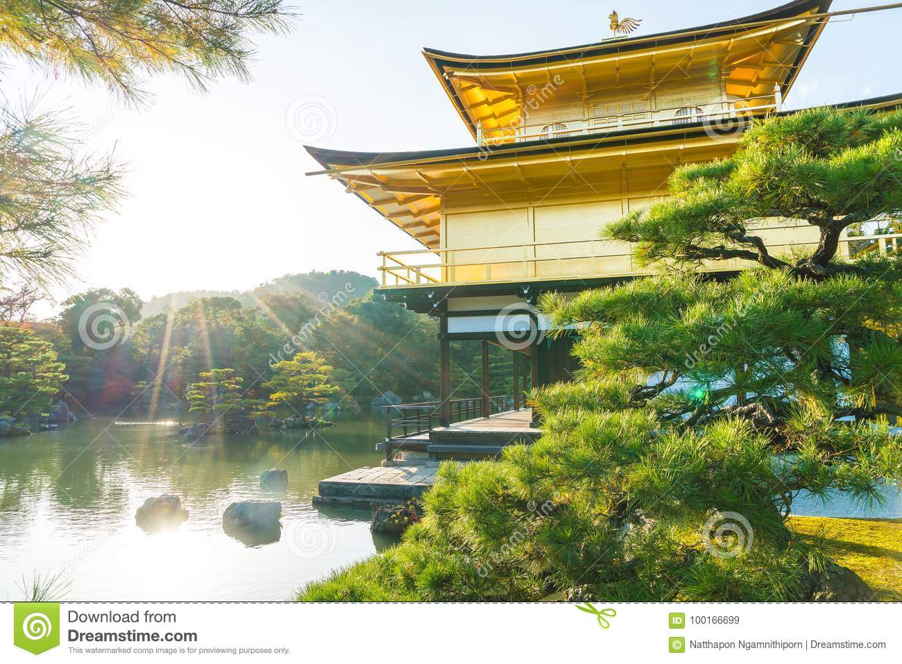 Beautiful Architecture at Kinkakuji Temple (The Golden Pavilion)