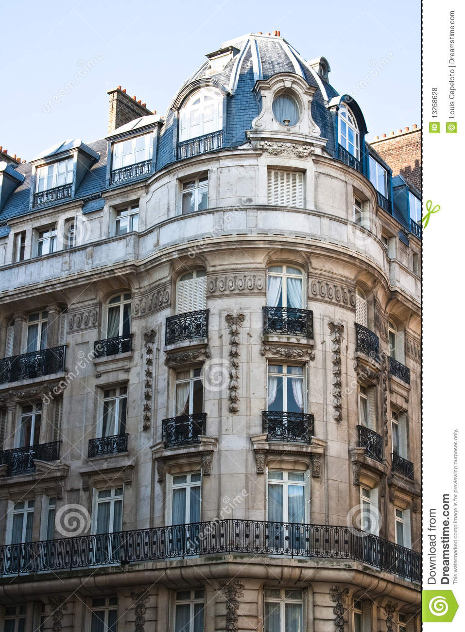 Beautiful architecture in paris france royalty free stock for Beautiful architecture