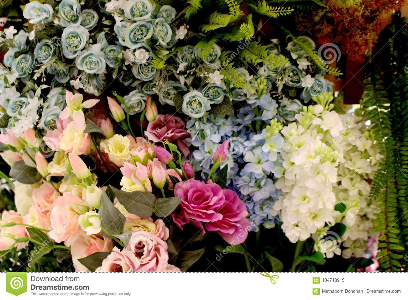 Beautiful Artificial Colorful Flowers For Home Decoration From