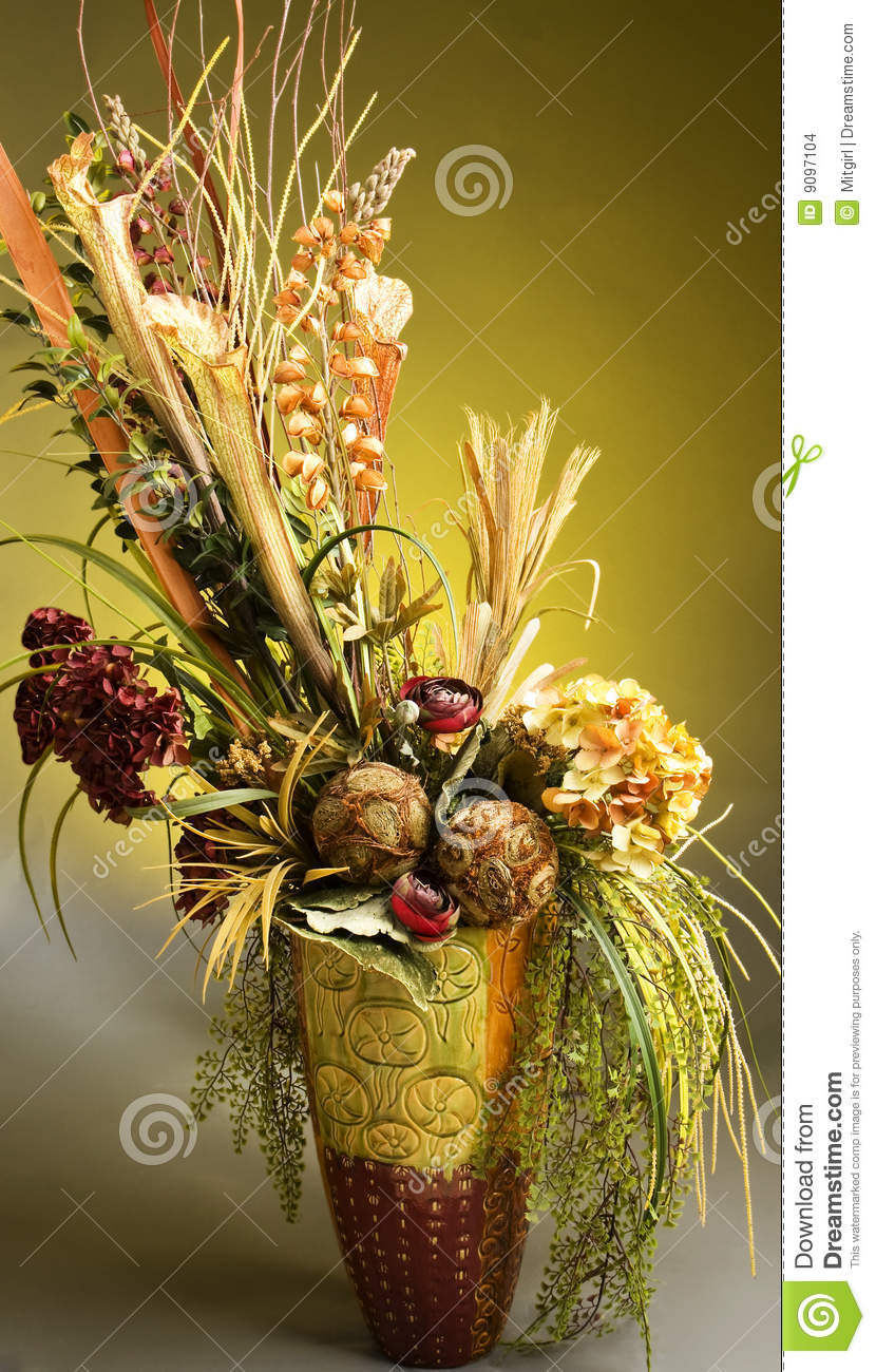 Beautiful Artificial Flower Arrangement Stock Photo Image Of Colorful Yellow 9097104