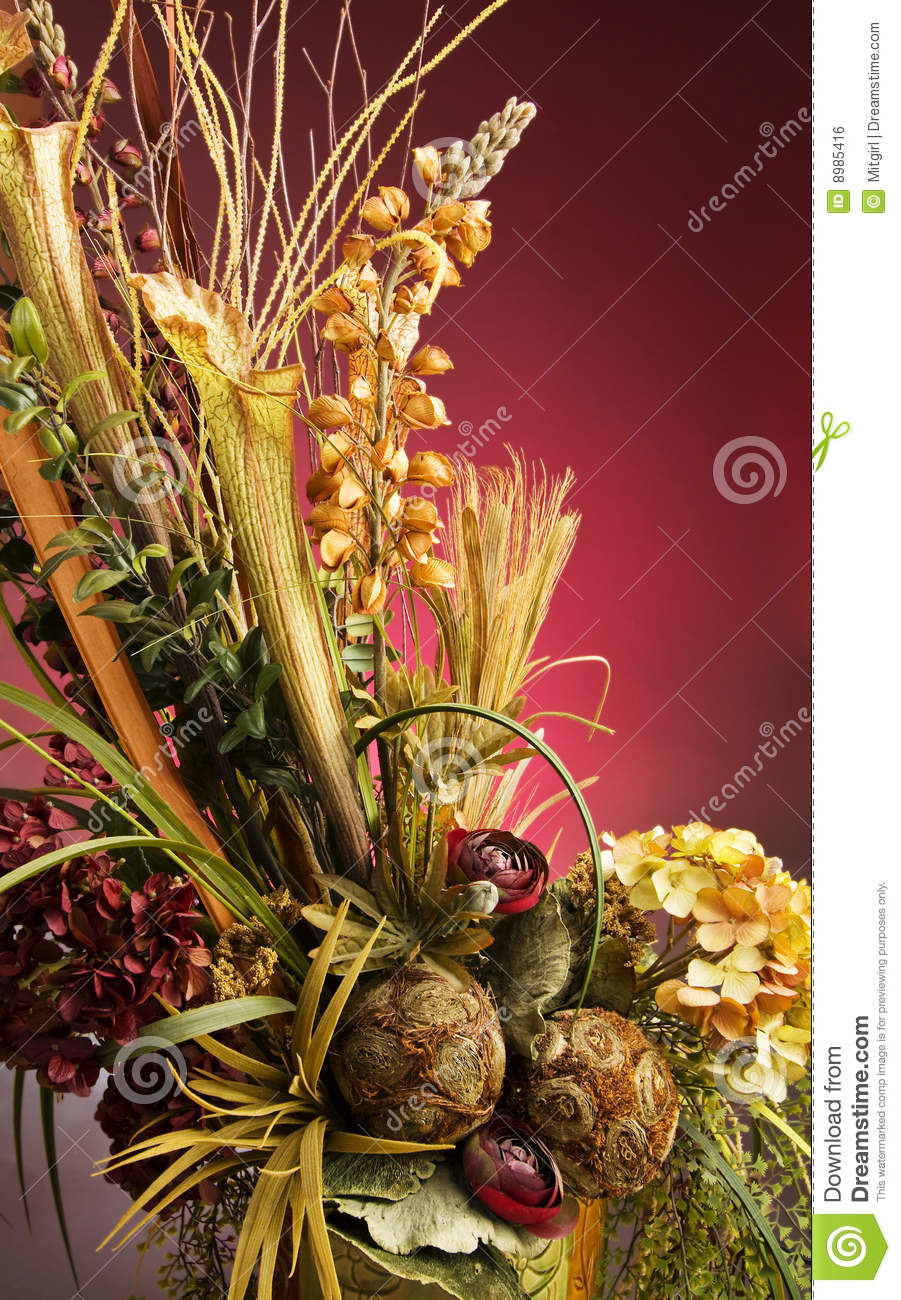 Beautiful Artificial Flower Arrangement In A Vase Stock Photo Image Of Decor Natural 8985416