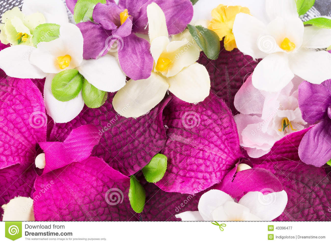 Beautiful Artificial Flowers Stock Image Image Of Background
