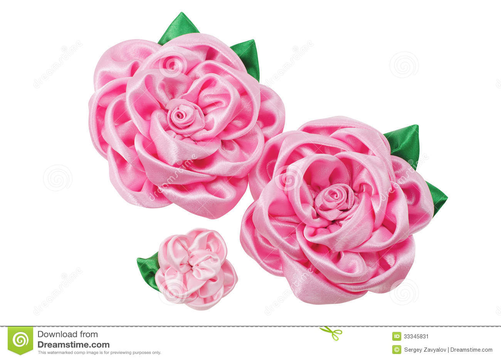 beautiful artificial flowers of handwork stock image