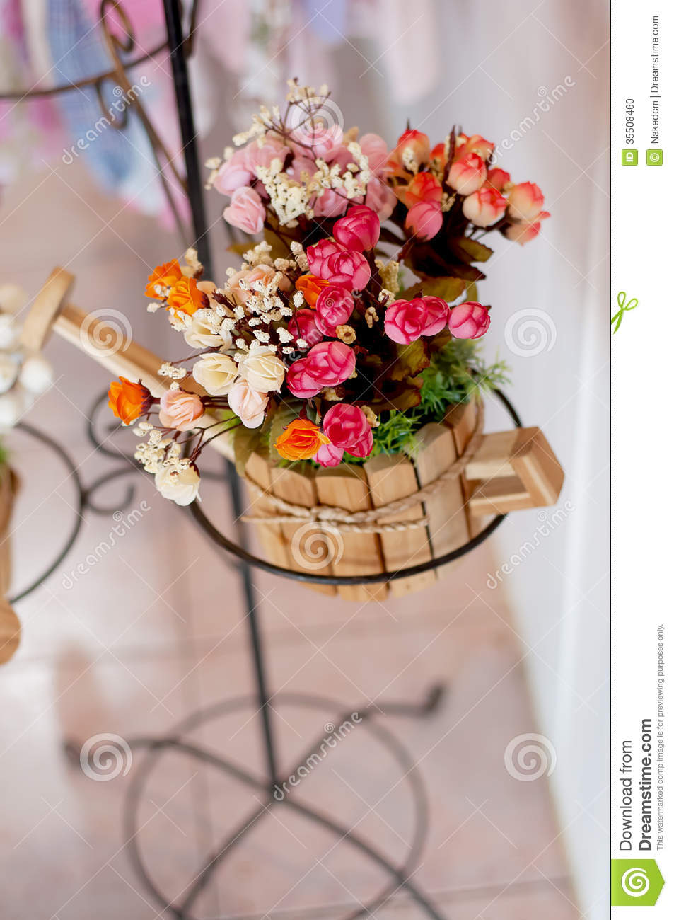 Beautiful Artificial Flowers Stock Photo Image Of Love Isolated