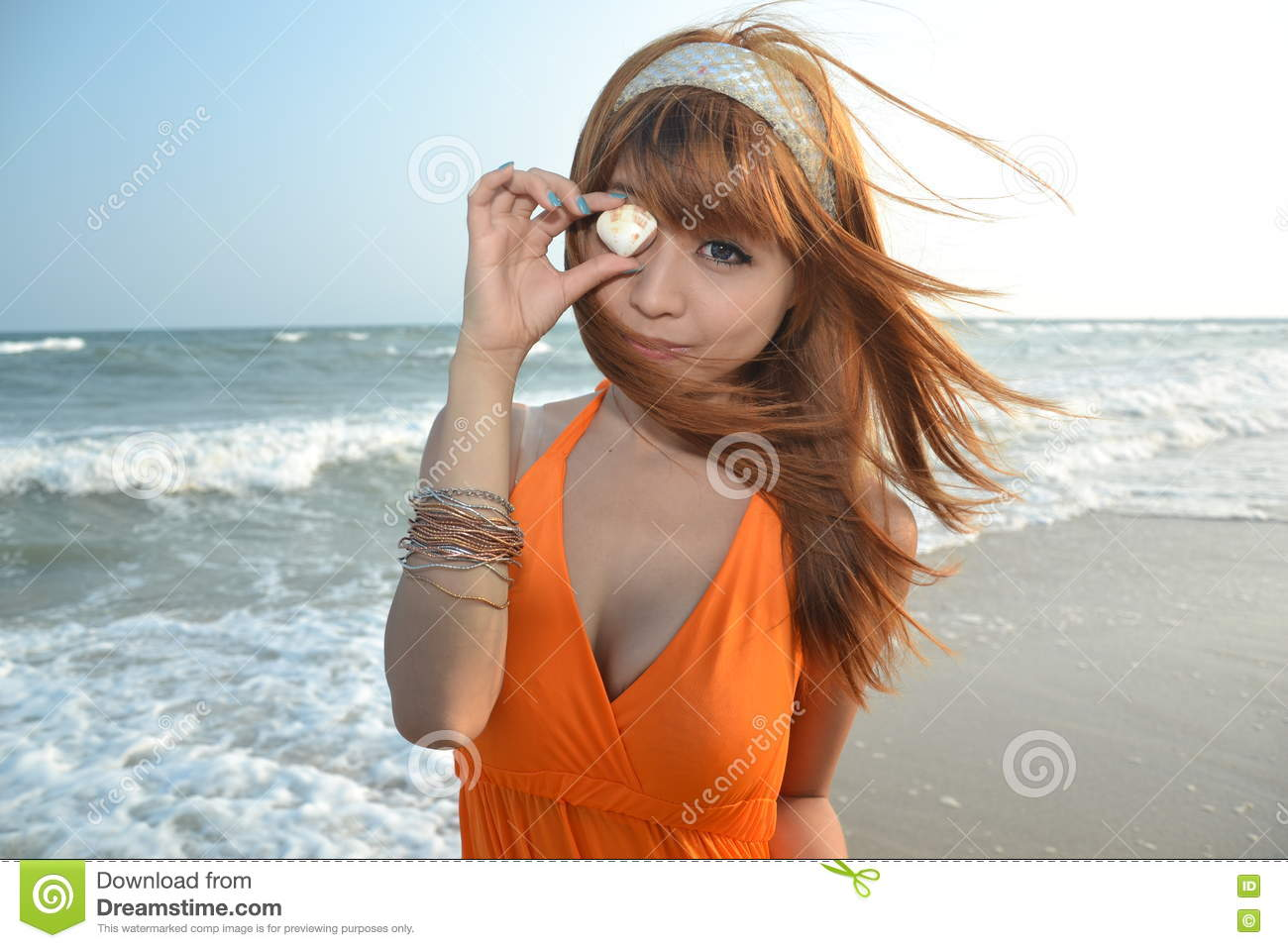 Beautiful Asian Girl At The Beach Stock Photo - Image -5693