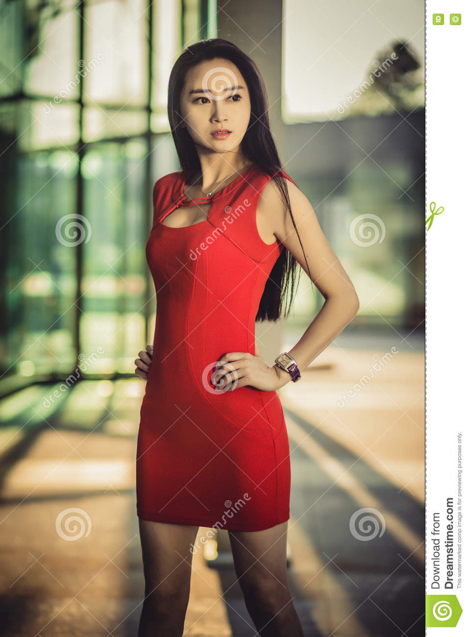 modeling Asian woman
