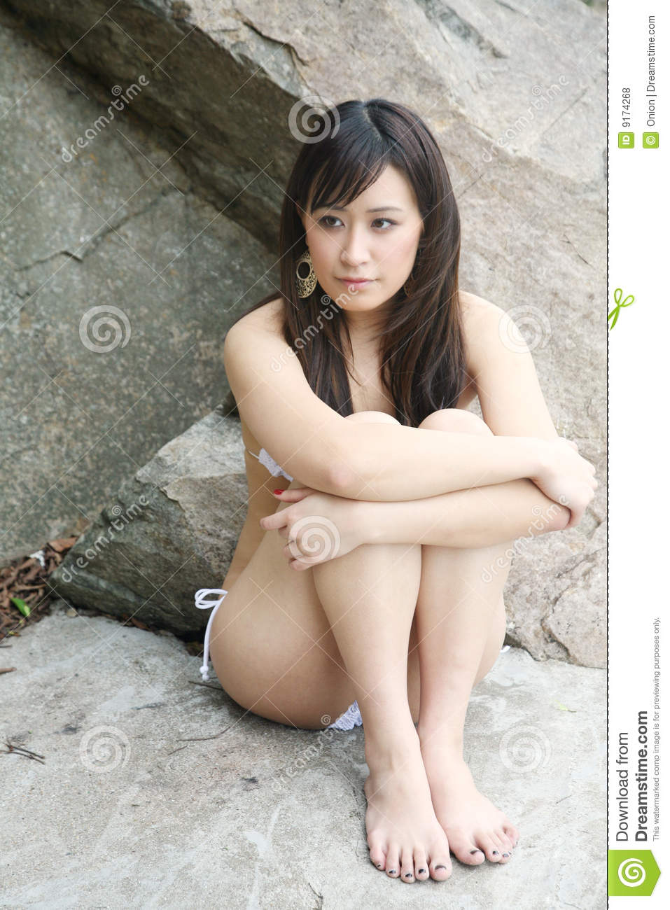 Young asian nudist