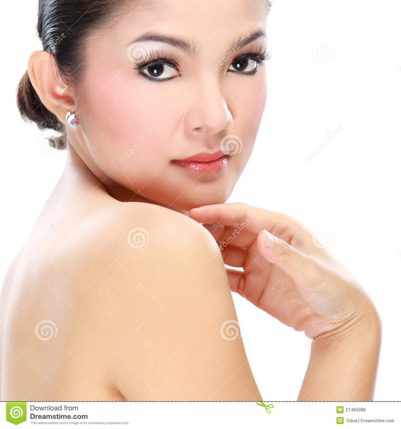 Beautiful Asian Woman Face Stock Photo Image Of Cosmetic 27465086